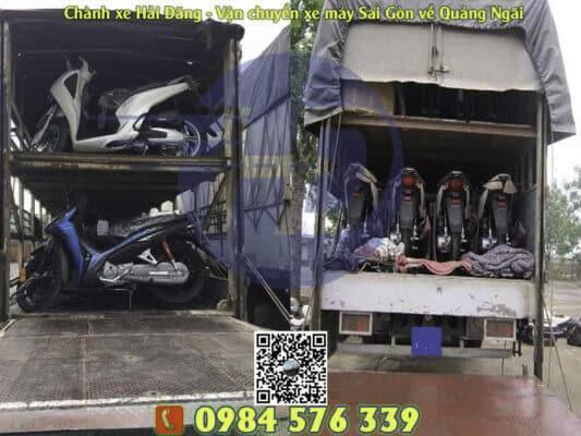 Chuyên vận chuyển xe máy từ Sài Gòn về Quảng Ngãi